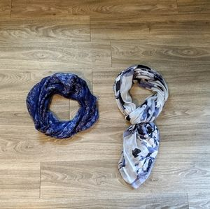 Two lightweight scarves